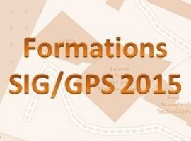 Calendrier des formations SIG/GPS 2015
